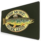 Großwild-Mauspad,Angeln Bachforellen Angeln Fliegenfisch Fischer Fischer,Rutschfester Schreibtisch-Pad-Schutz,Schreibtisch-Schreibmatte...