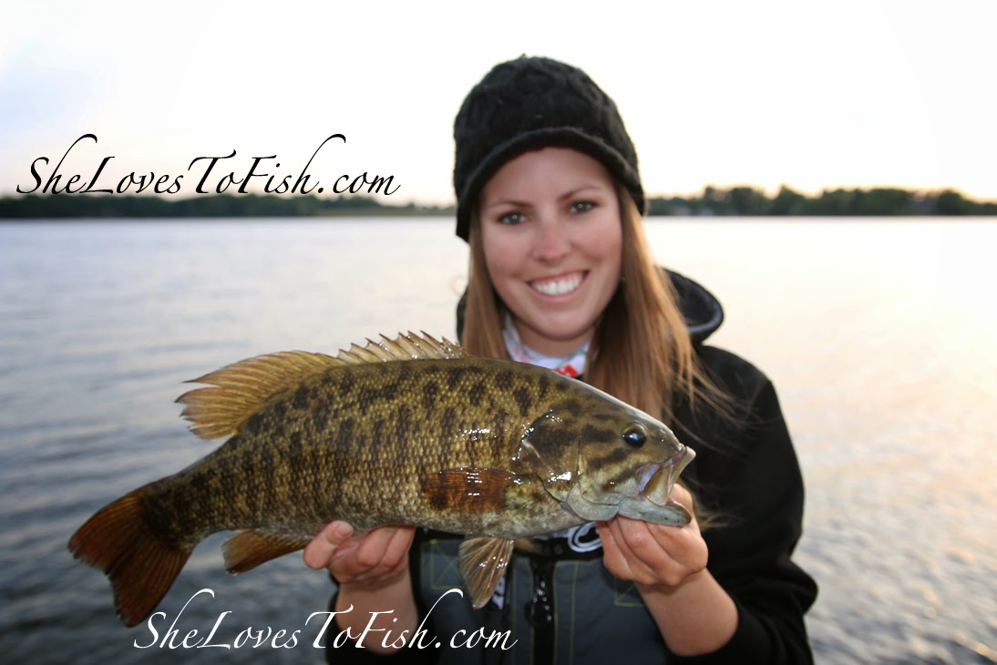 Ashley mit Smallmouth-Bass
