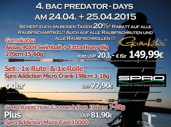 Photo of 4. BAC – PREDATOR DAYS im Bergedorfer Angler-Centrum
