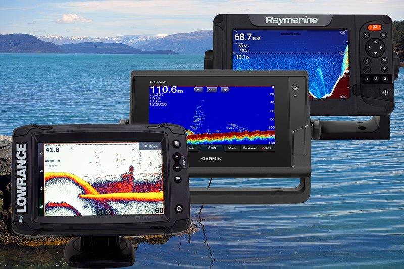 Testsieger: Lowrance Elite 7 Ti² , Garmin GPSMAP 722xs, Raymarine Elements 7 HV