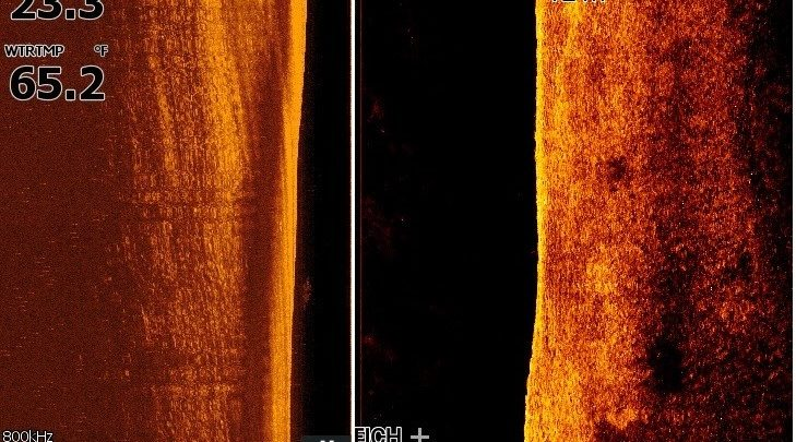Test Sidescan Lowrance raymarine