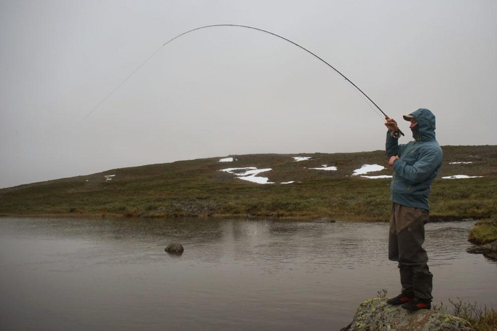 Drill mit der Fliegenrute in Schweden