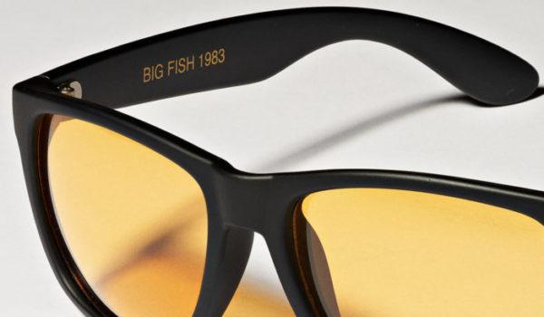 Sonenbrille mit Forelle an der Seite