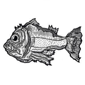 Fantasie Fisch auf Leinwand