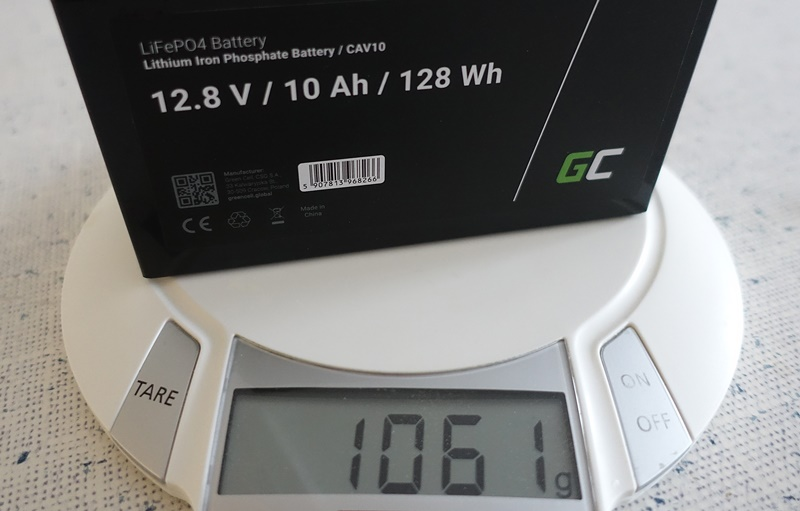 Gewicht 12V/10Ah LFT Akku